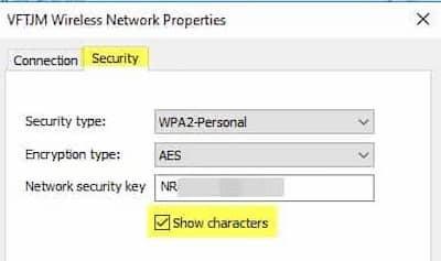 how to find my wifi password on windows 10