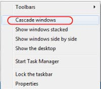 cascade windows os