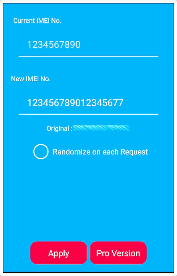 how to change imei number for android