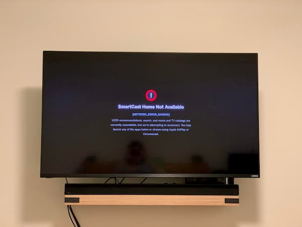 Vizio SmartCast TV Not Available
