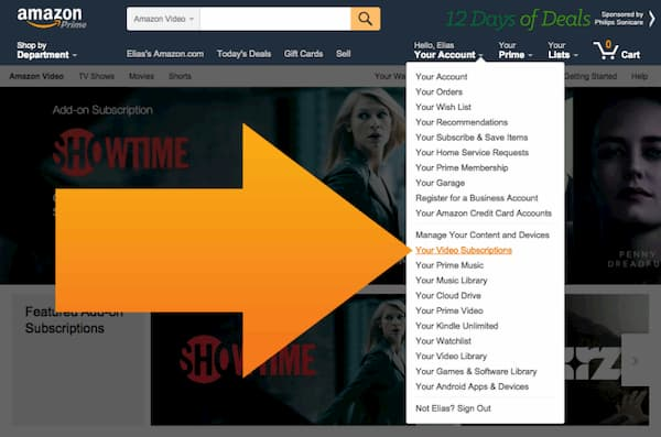 how to cancel amazon prime video subscription