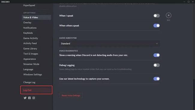 mic not working in discord