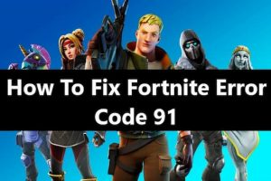 fortnite error code 91
