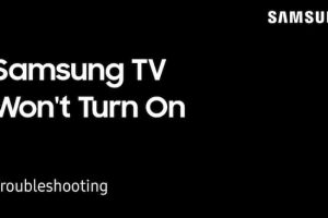 samsung tv won't turn on